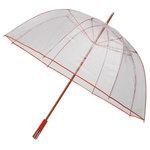 Durchsichtiger Golfregenschirm Rot