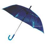 Durchsichtiger Stockregenschirm Blau