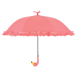 Regenschirm Flamingo mit Rüschen_
