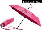 Bedruckter Regenschirm mit Initialen oder Name (Taschenregenschirm)_