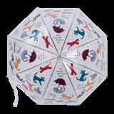 Regenschirm durchsichtig Hunde und Katzen