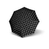 Knirps Regenschirm Schwarz mit Punkten
