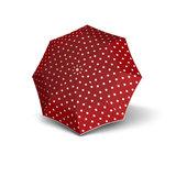 Knirps Taschenschirm Rot mit Punkten