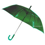 Durchsichtiger Stockregenschirm Grün