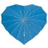 Herz Regenschirm Hell Blau Bedrucken_