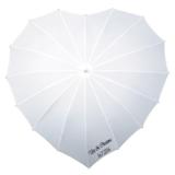 Herz Regenschirm Weiß Bedrucken_