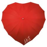 Herz Regenschirm Rot bedrucken_
