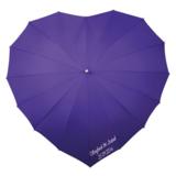 Herz Regenschirm Violett Bedrucken _