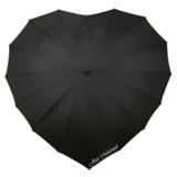 Herz Regenschirm Schwarz Bedrucken_