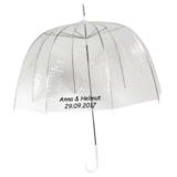 Durchsichtiger Kuppelregenschirm Bedrucken_
