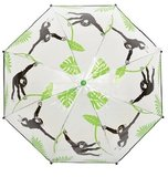 Durchsichtiger Kinderregenschirm Affe