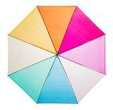 Durchsichtiger Regenbogen Golfschirm - Blau_