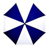Werberegenschirm blau weiss