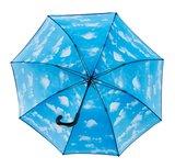 Golfregenschirm mit wolken