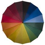 Regenbogen Stockschirm mit Rundhakengriff