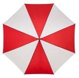 Golfregenschirm Rot Weiss Holzgriff