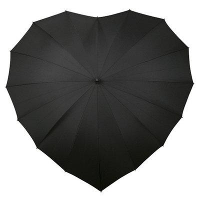 Herz Regenschirm Schwarz