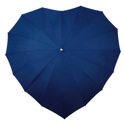 Herz Regenschirm Dunkel Blau