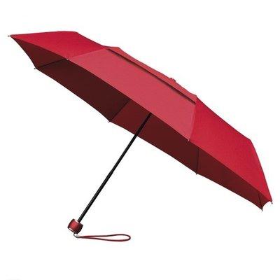 ÖKO Taschenregenschirm Rot Windsicher