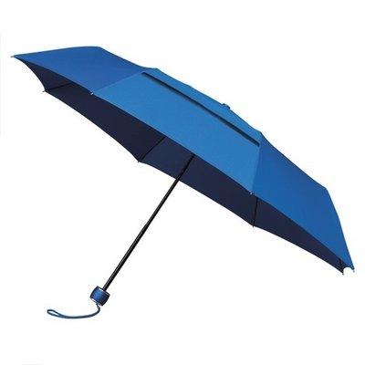 ÖKO Taschenregenschirm Blau Windsicher