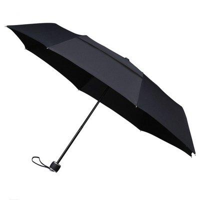ÖKO Taschenregenschirm Schwarz Windsicher