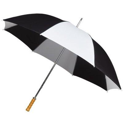 Portier/Golfschirm, Holzgriff, schwarz/weiß