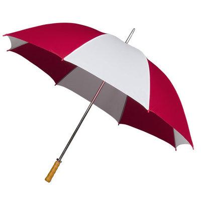 Portier/Golfschirm Holzgriff Rot/Weiß