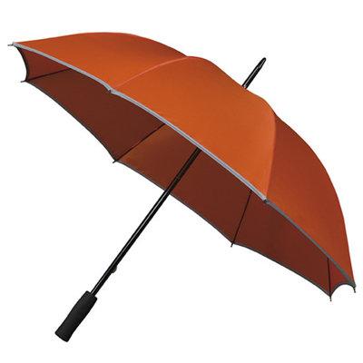 Reflektierender Golfregenschirm Orange