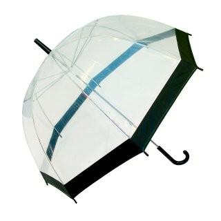 Happy rain Durchsichtig Rand Schwarz