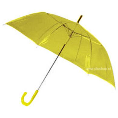 Durchsichtiger Stockregenschirm Gelb