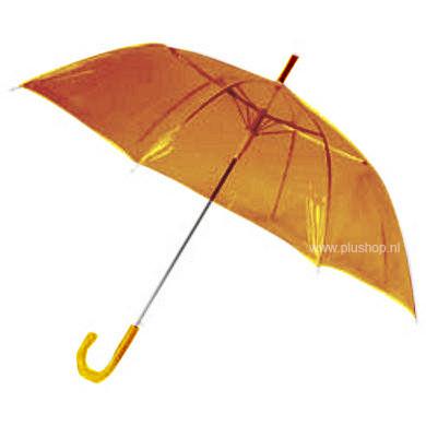 Durchsichtiger Stockregenschirm Orange
