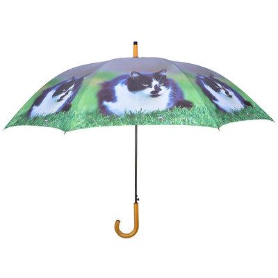 Katze Regenschirm - schwarz/weiß