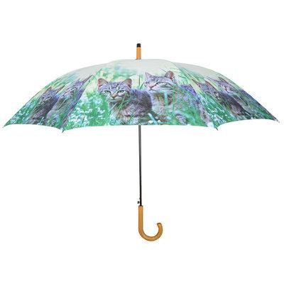 Regenschirm 2 Katzen - Grau