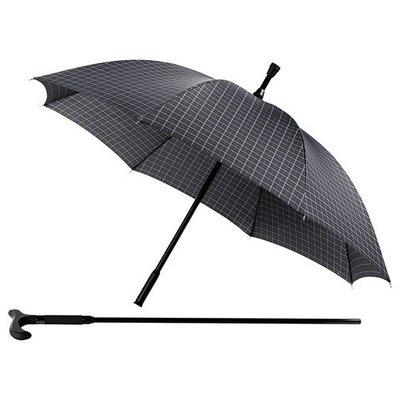 Falcone® Regenschirm Quadrate mit Gehstock