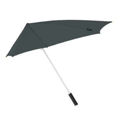 Aerodynamische Sturm Regenschirm - Grau