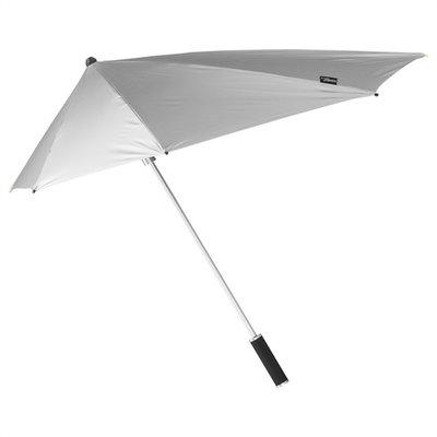 Aerodynamische Sturm Regenschirm - Schwarz/Silber