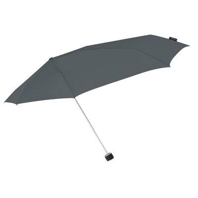 Aerodynamische Sturm Taschenregenschirm - Grau