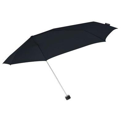 Aerodynamische Sturm Taschenregenschirm - Schwarz