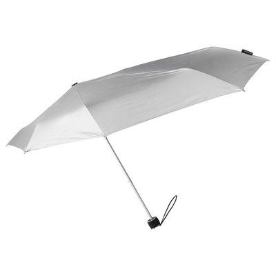 Aerodynamische Sturm Taschenregenschirm - Schwarz/Silber