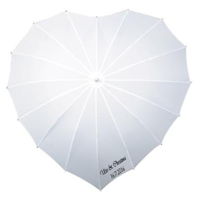 Herz Regenschirm Weiß Bedrucken