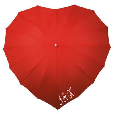 Herz Regenschirm Rot bedrucken