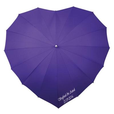 Herz Regenschirm Violett Bedrucken