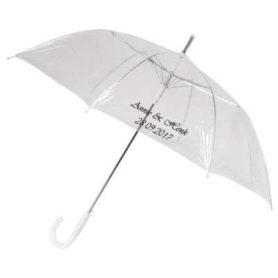 Durchsichtiger Stockregenschirm Bedrucken