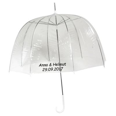 Durchsichtiger Kuppelregenschirm Bedrucken
