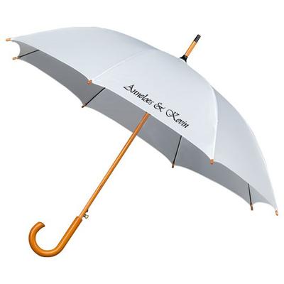 Falconetti® Stockschirm Weiß Luxus Bedrucken
