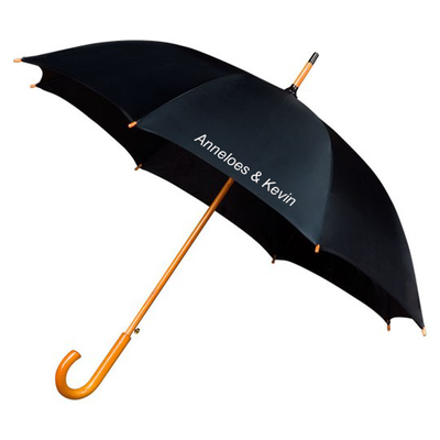 Falconetti® Stockschirm Luxus Schwarz Bedrucken