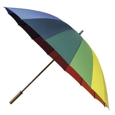Regenbogen Golfregenschirm XL