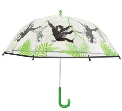 Kinderregenschirm Transparent Affe