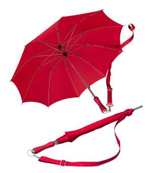 Falcone® Wander-Trekkingschirm mit Schulterband Rot