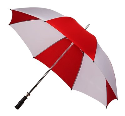 Golfschirm Rot/Weiß Handöffnung, Diam. ca. 120 cm